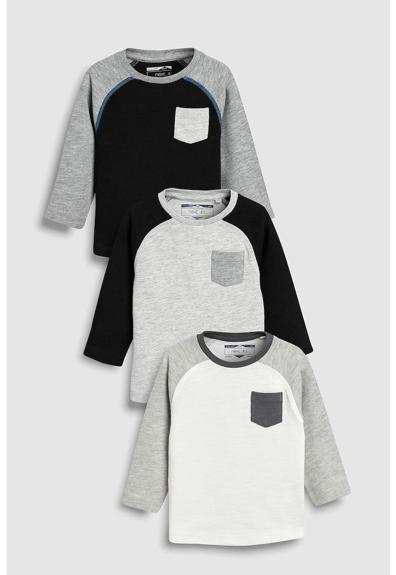 Set de bluze cu aplicatie pe piept – 3 piese de la NEXT