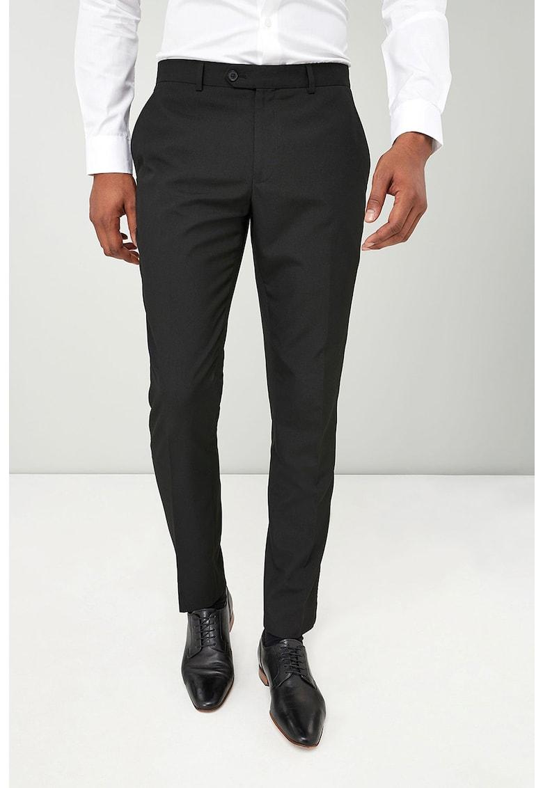 Pantaloni skinny - eleganti - din amestec de lana