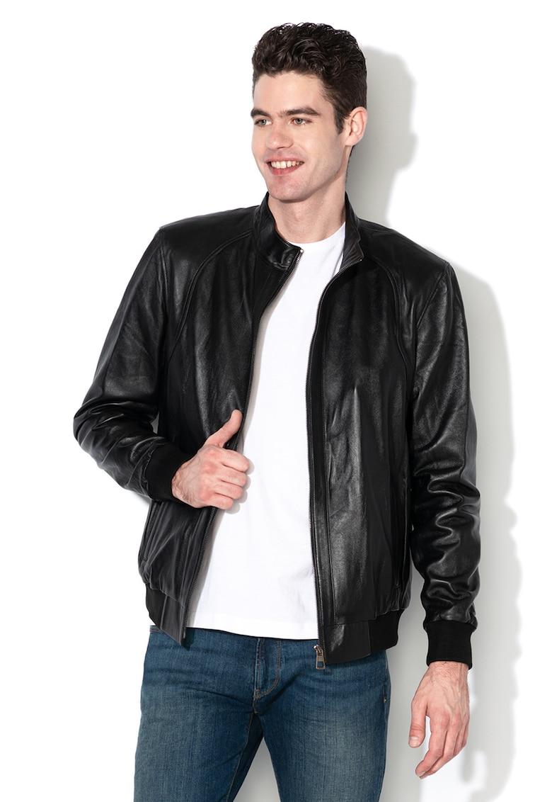 Jacheta de piele - Negru -