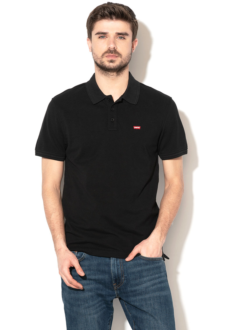 Levis Tricou polo din material pique - cu model in dungi 2