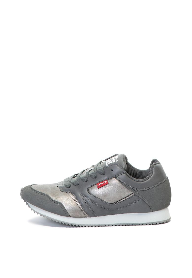 Pantofi sport cu aspect stralucitor Ellis