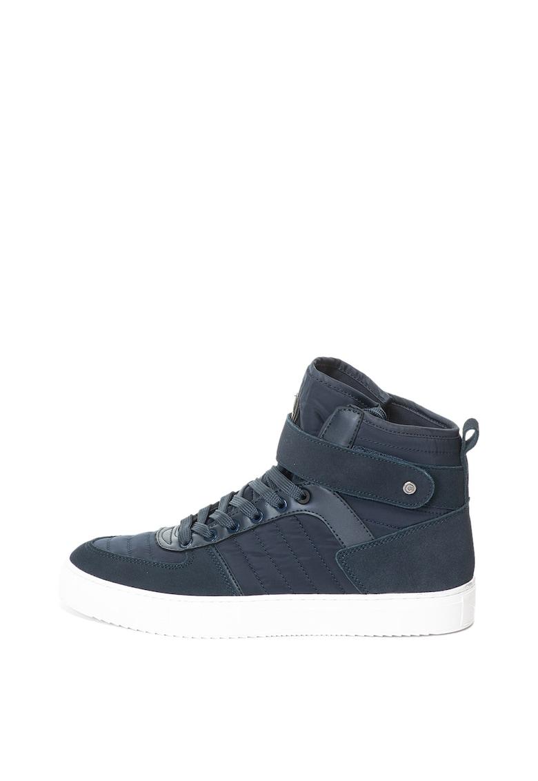Pantofi sport inalti cu insertii de piele intoarsa Renton