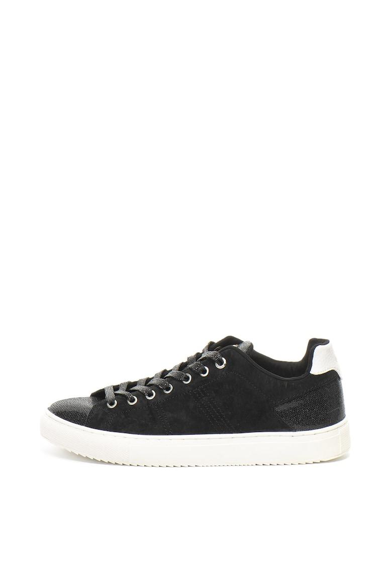 Pantofi sport de piele intoarsa cu insertii stralucitoare Bradbury Lux