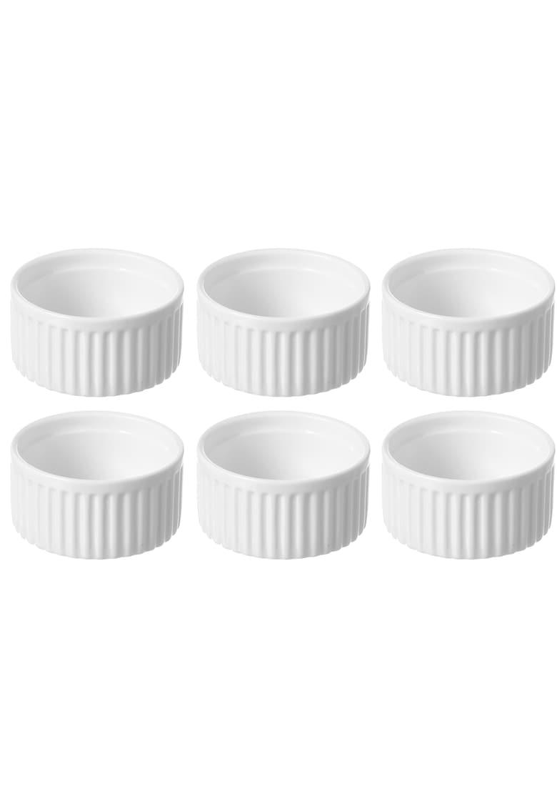 Set 6 vase ramekin - portelan - rezistent pana la 600°C - 120x55 mm imagine fashiondays.ro 2021