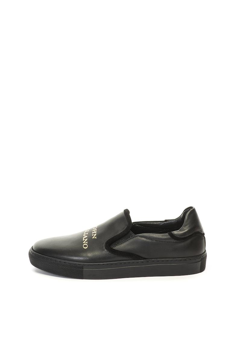 Pantofi sport - slip on - de piele