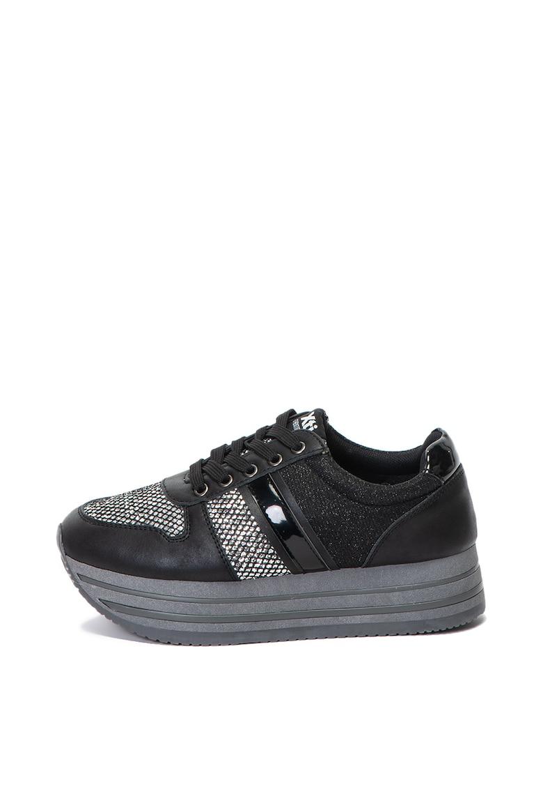 Pantofi sport wedge cu insertii stralucitoare Xti
