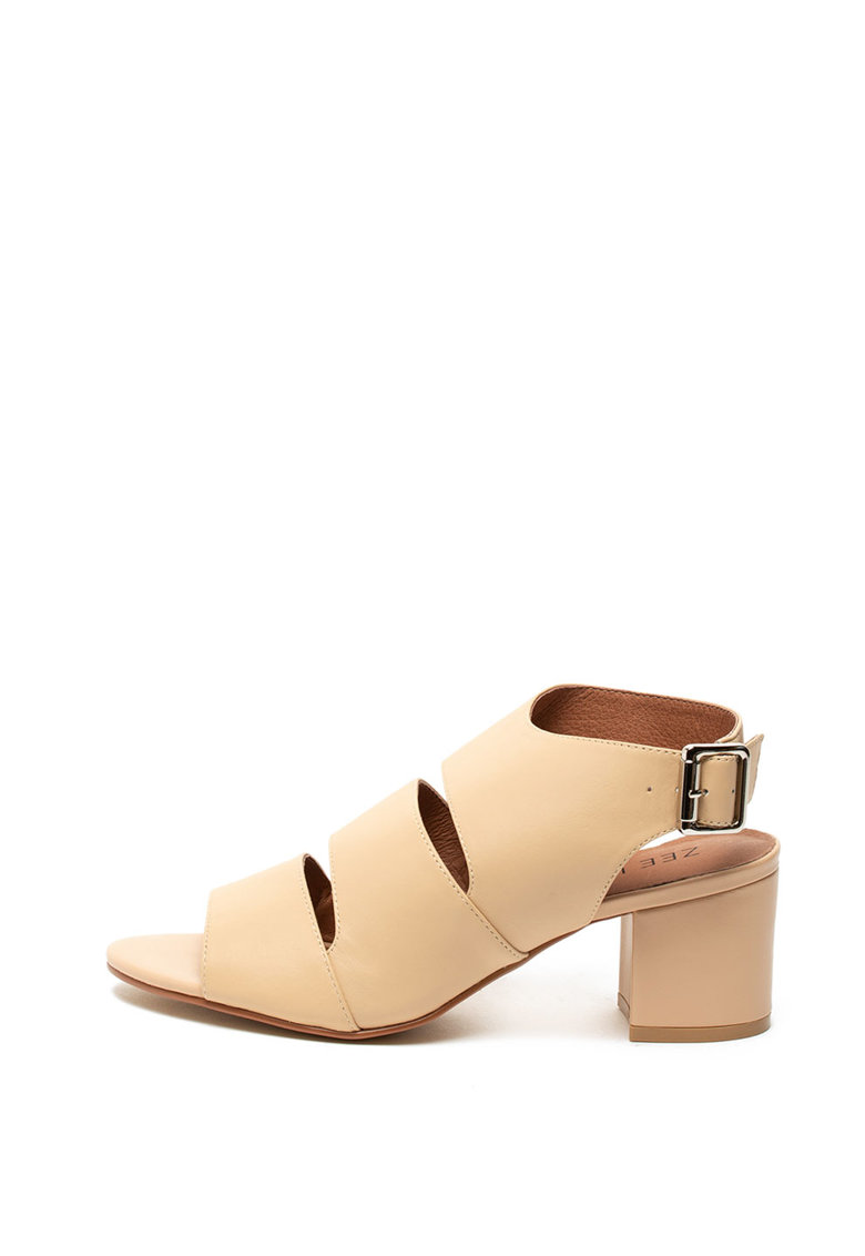 Sandale de piele – cu toc masiv Zee Lane
