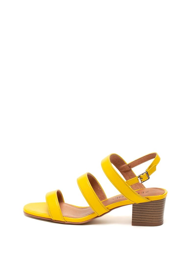 Sandale de piele cu barete multiple de la Zee Lane