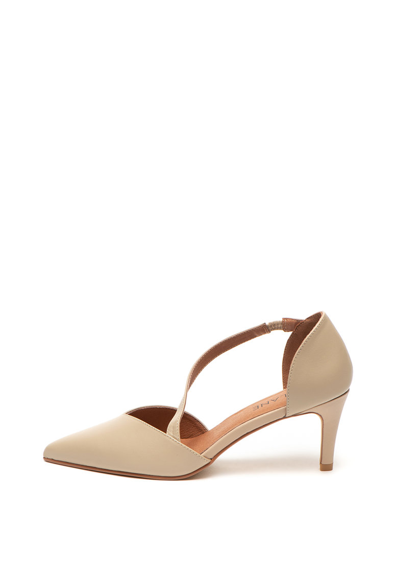 Pantofi d'Orsay de piele cu varf ascutit de la Zee Lane