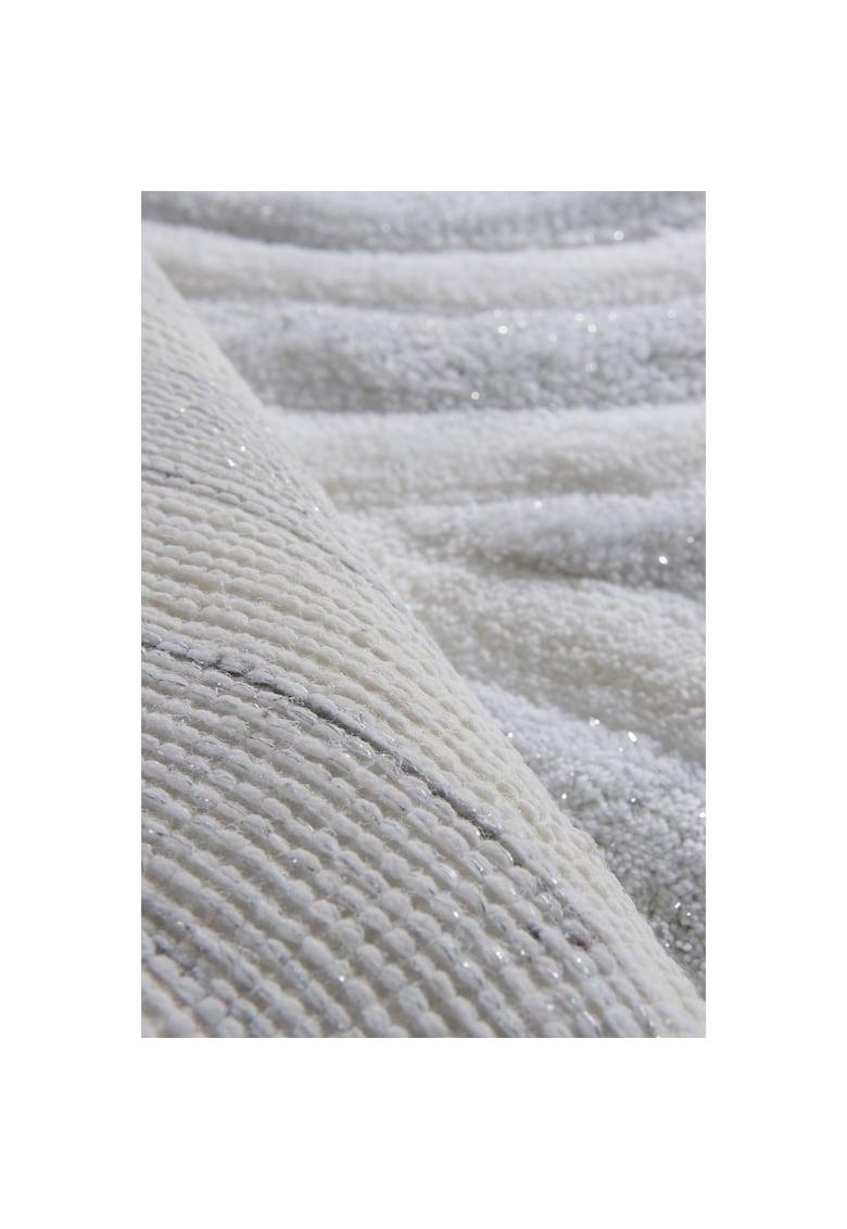 Set 3 covorase de baie Wave - White -  100% acryl - alb