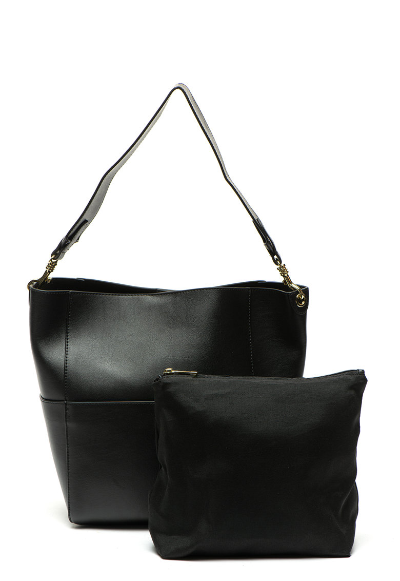 Zee Lane eanta de piele cu bareta pentru umar Leather Shoulder Bag