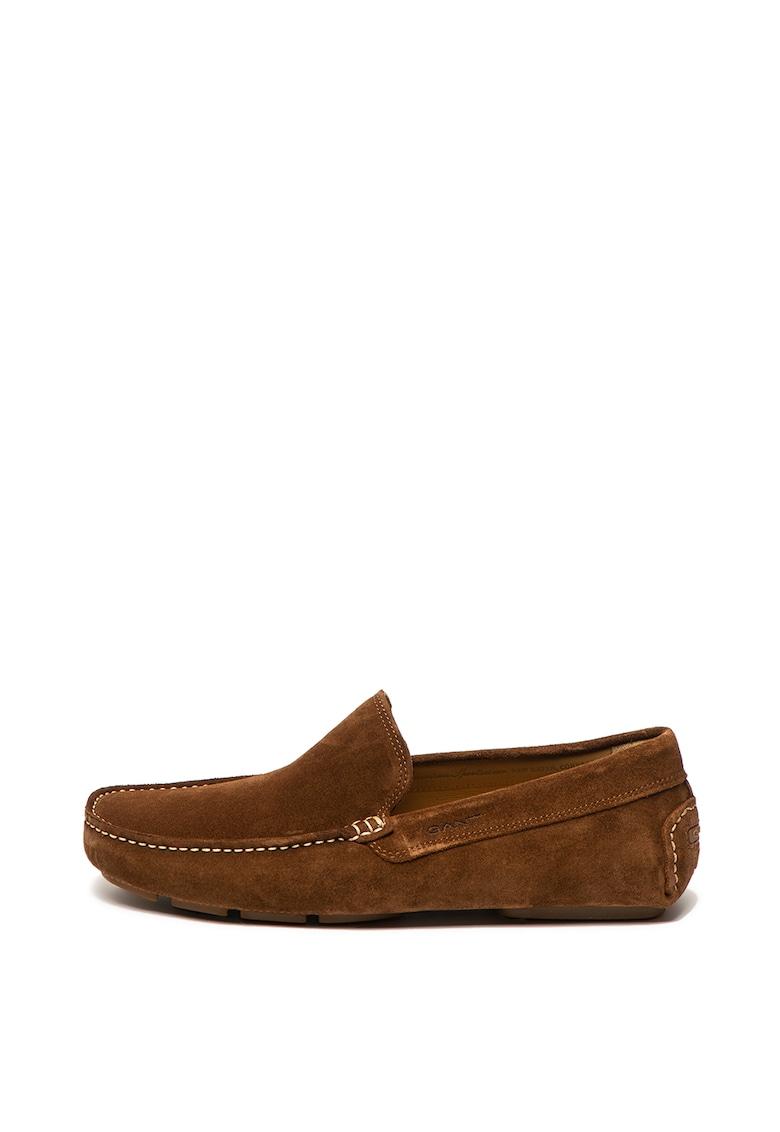 Pantofi loafer de piele intoarsa – cu logo stantat Austin de la Gant