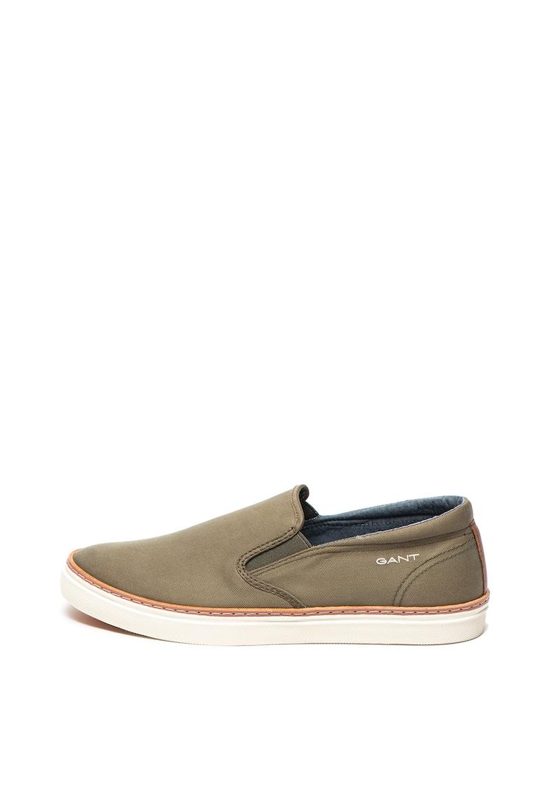 Pantofi slip-on cu garnitura de piele Bari