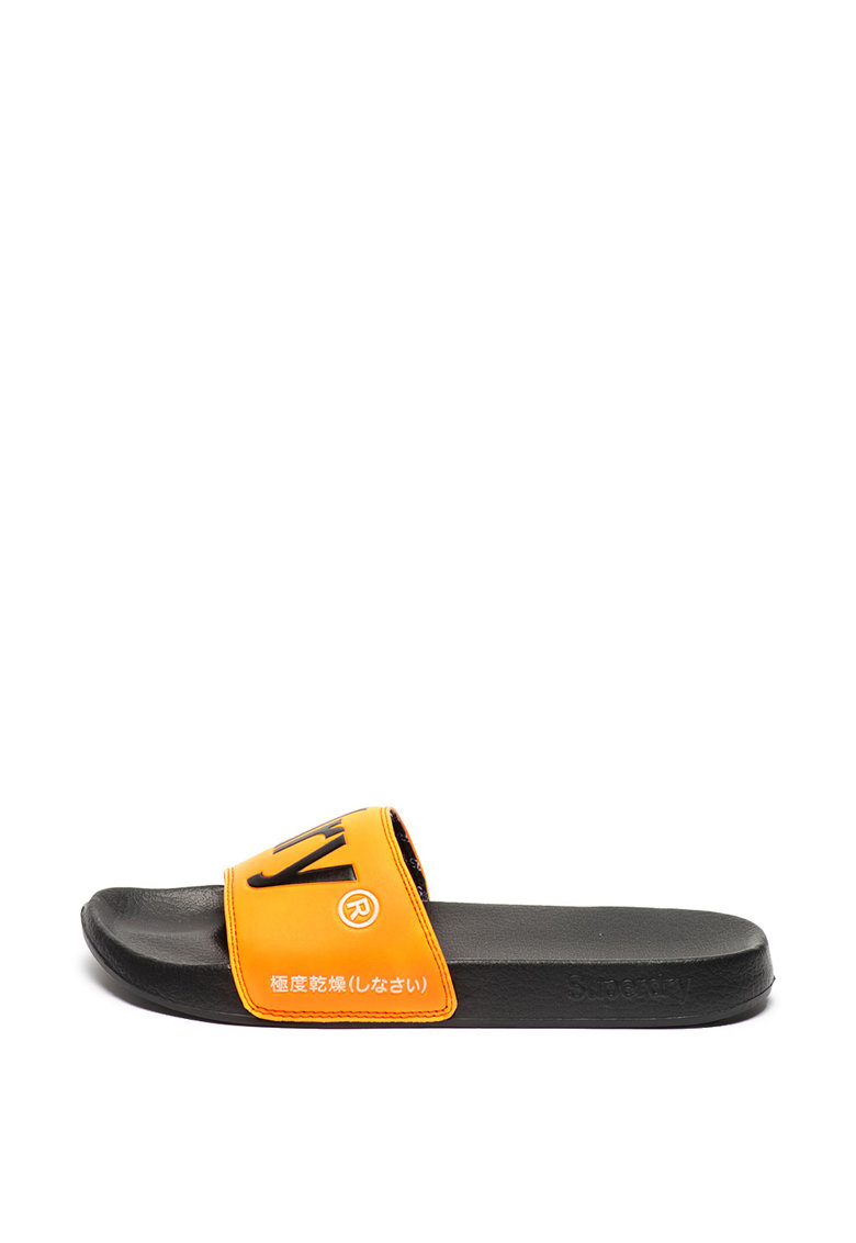 Papuci cu logo contrastant imagine