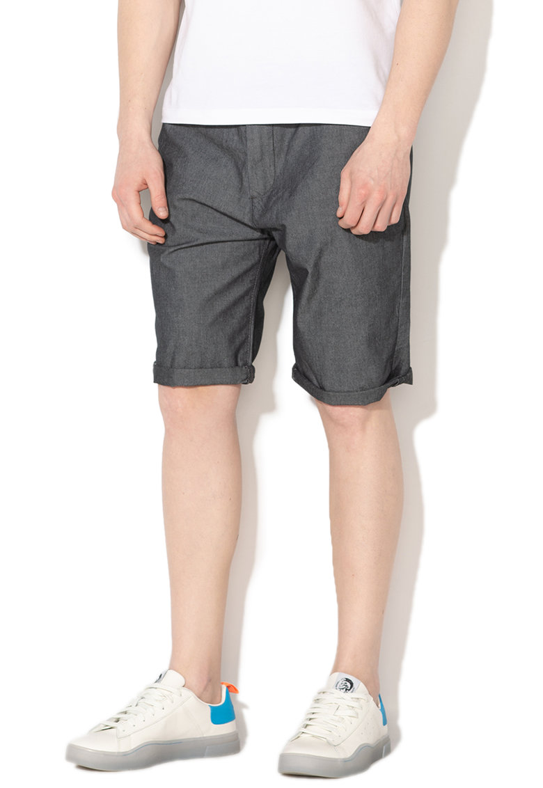 Bermude chino relaxed slim fit din chambray imagine