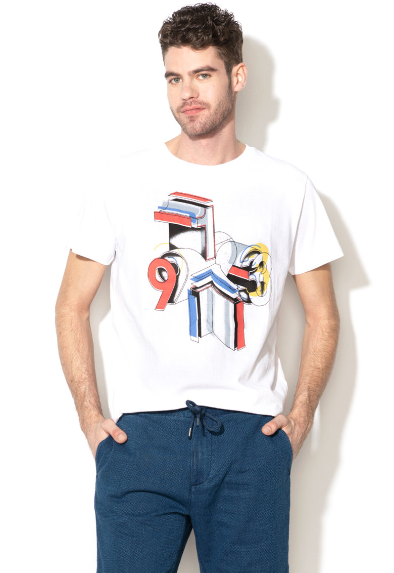 Tricou regular fit cu imprimeu grafic Jacob de la Pepe Jeans London