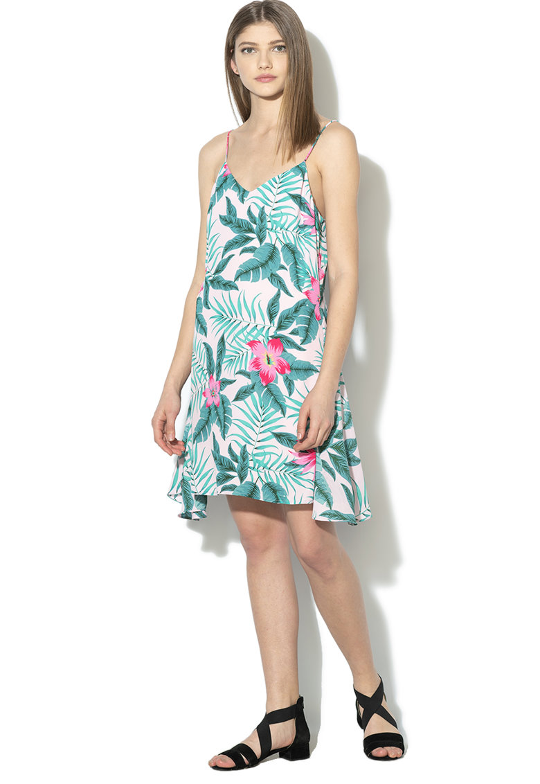 Rochie mini cu model tropical Brenda