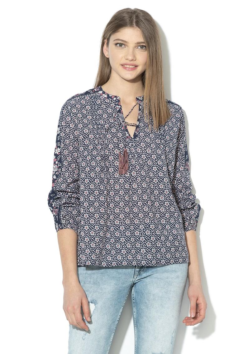 Bluza tip tunica cu imprimeu Anya