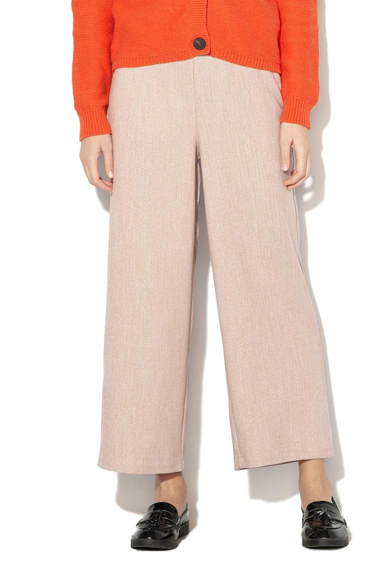 Pantaloni culotte cu model geometric Marena imagine fashiondays.ro