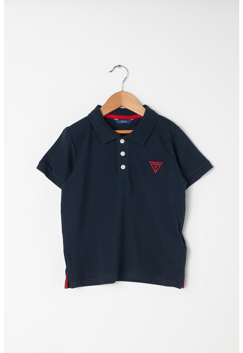 Tricou polo cu broderie logo imagine