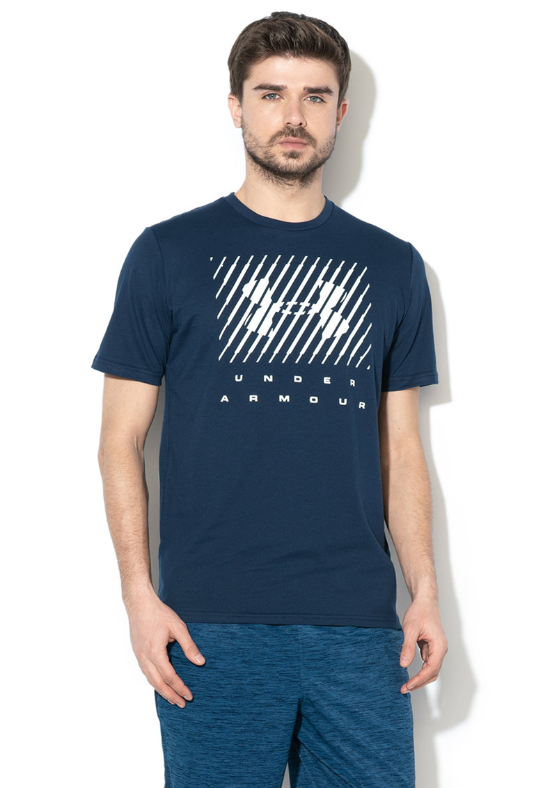 Tricou cu imprimeu logo - pentru fitness