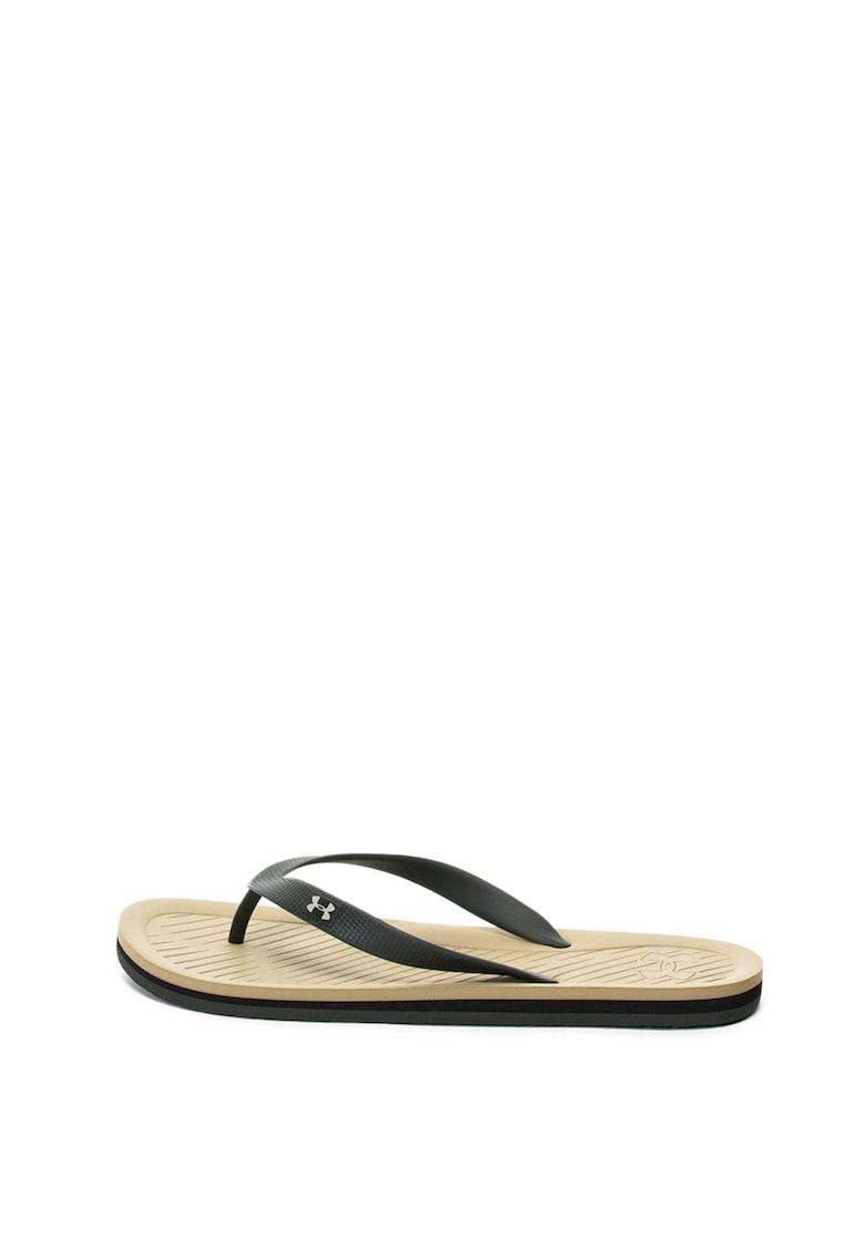 Papuci flip-flop cu bareta texturata