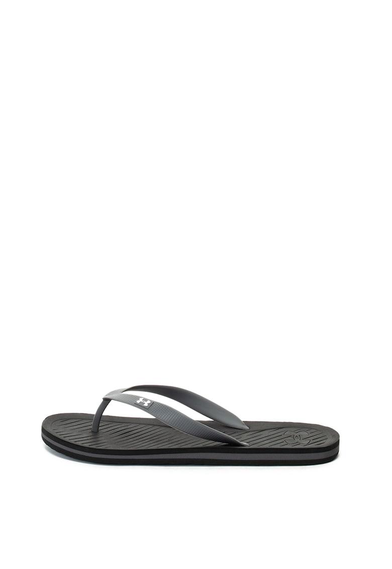 Papuci flip-flop cu bareta texturata 2 imagine