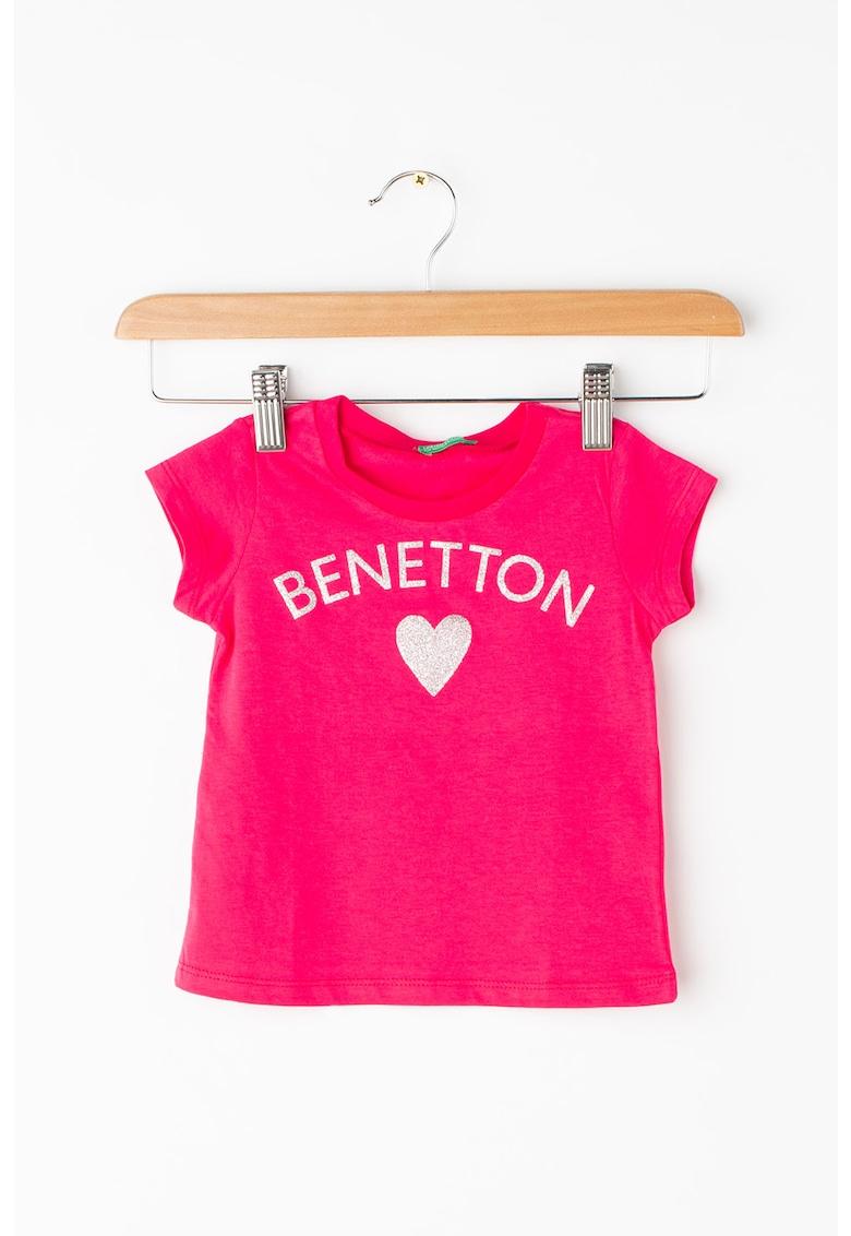 Tricou cu imprimeu logo United Colors of Benetton