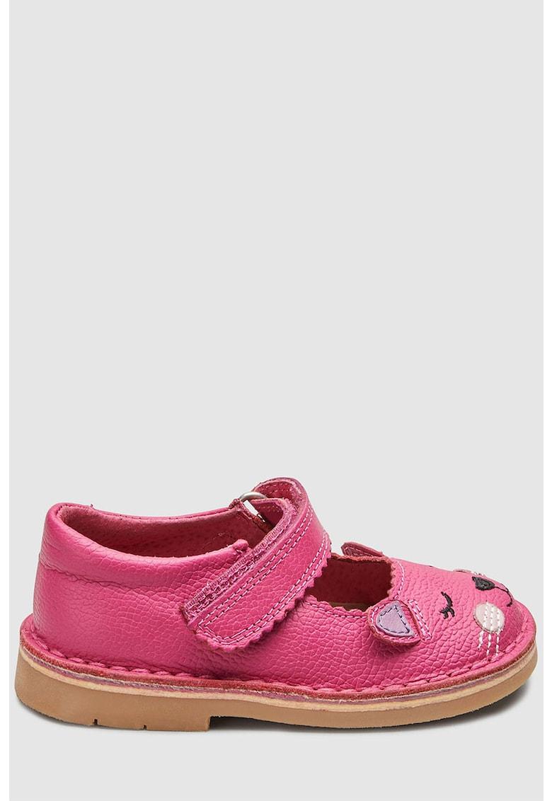 Pantofi Mary-Jane de piele cu model pisica NEXT