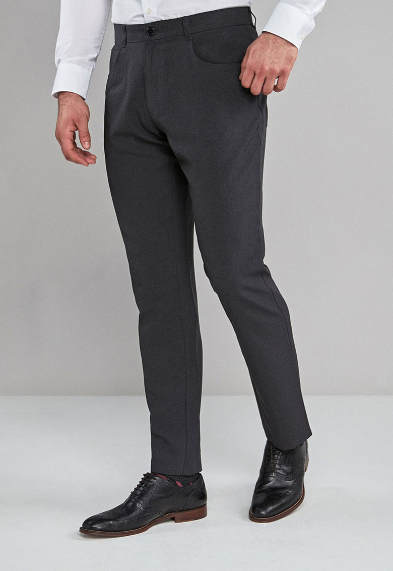 Pantaloni regular fit eleganti cu pensa