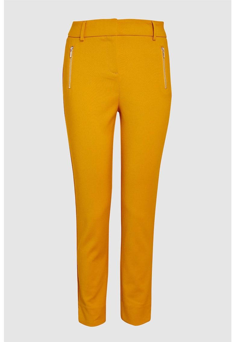 Pantaloni skinny cu buzunare cu fermoar
