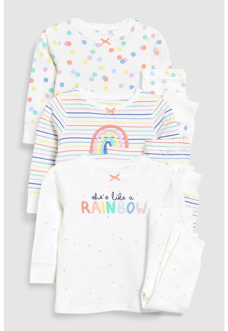 Set de 3 pijamale cu imprimeu