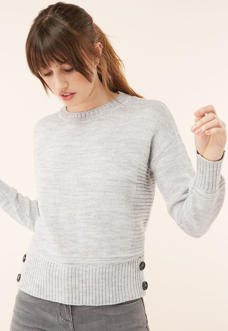 NEXT Pulover din amestec de lana cu detalii striate