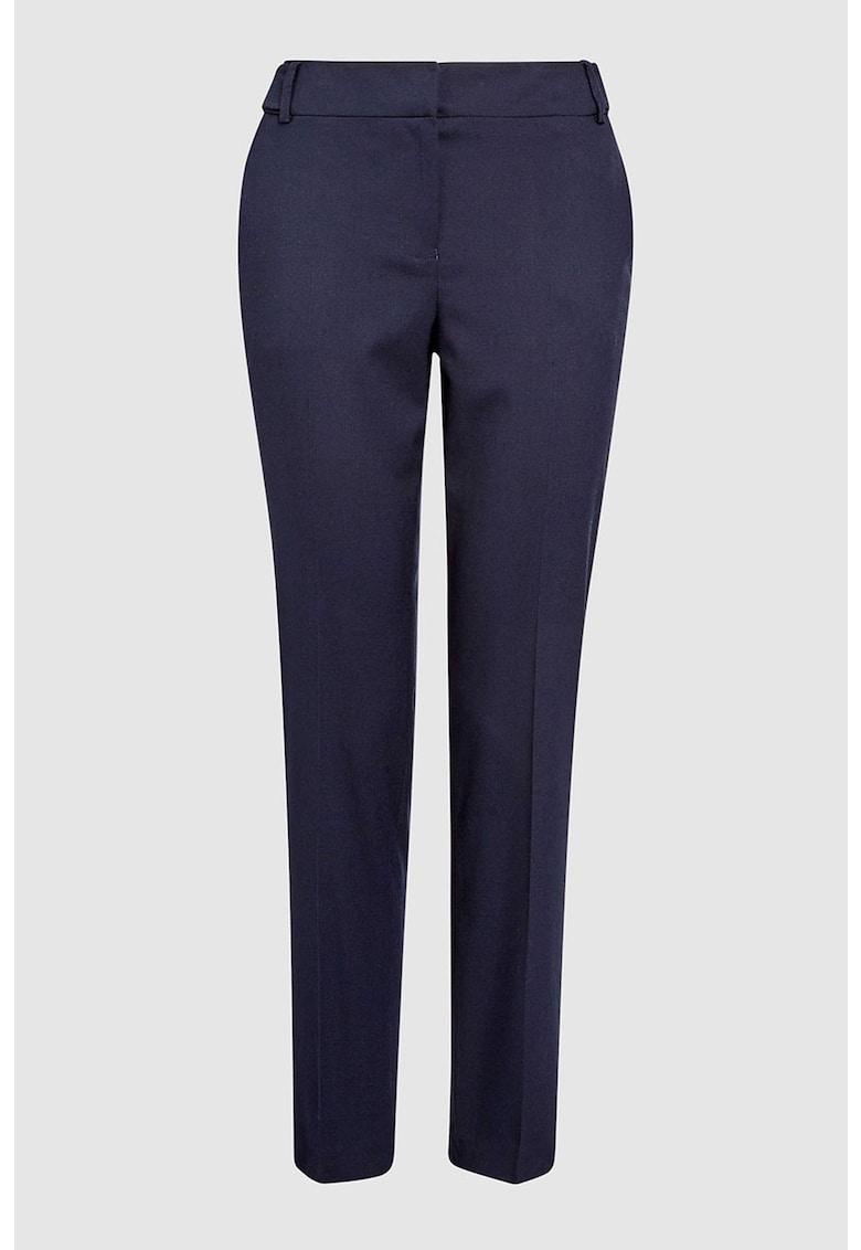 Pantaloni eleganti slim fit cu buzunare