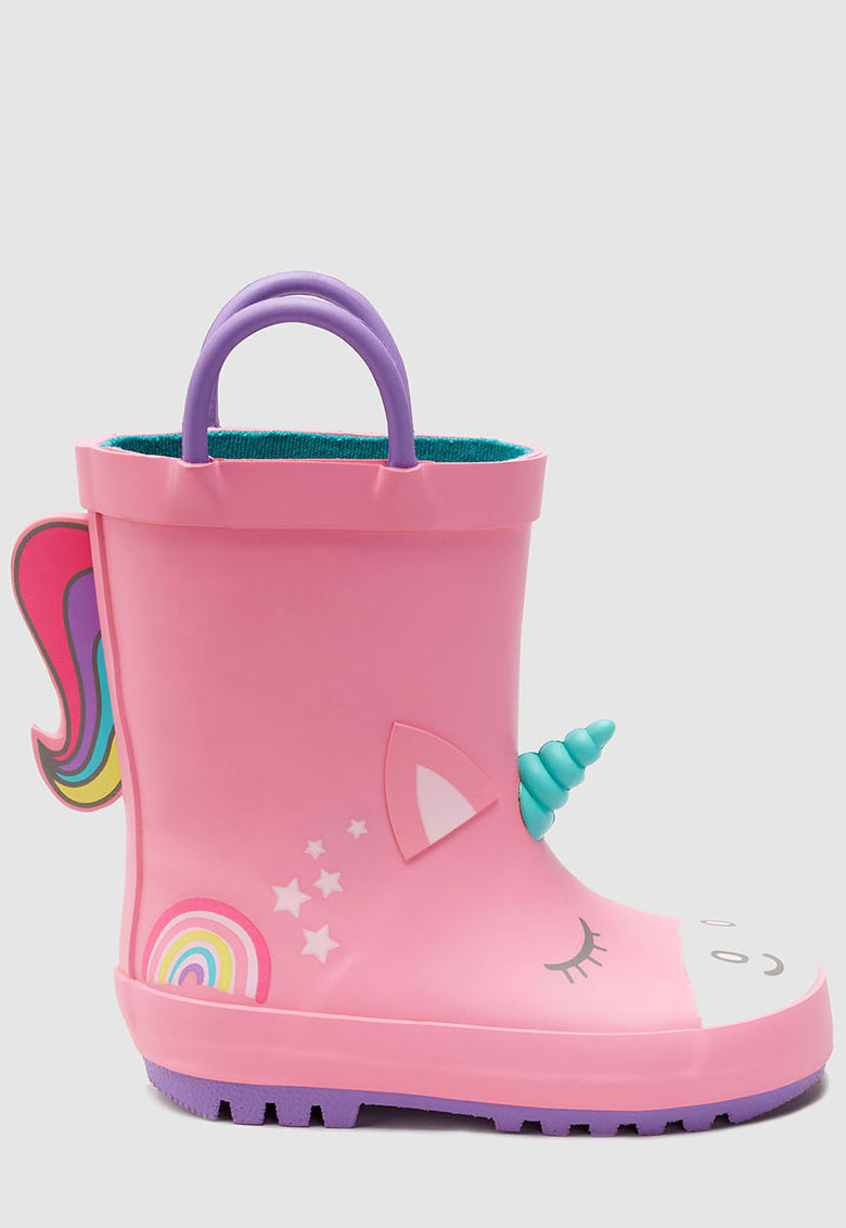 Cizme de ploaie - cu model unicorn