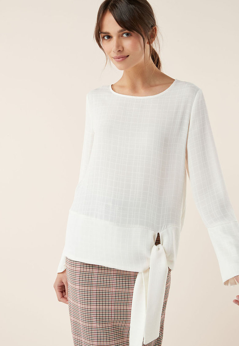 NEXT Bluza cu model in carouri si prindere laterala