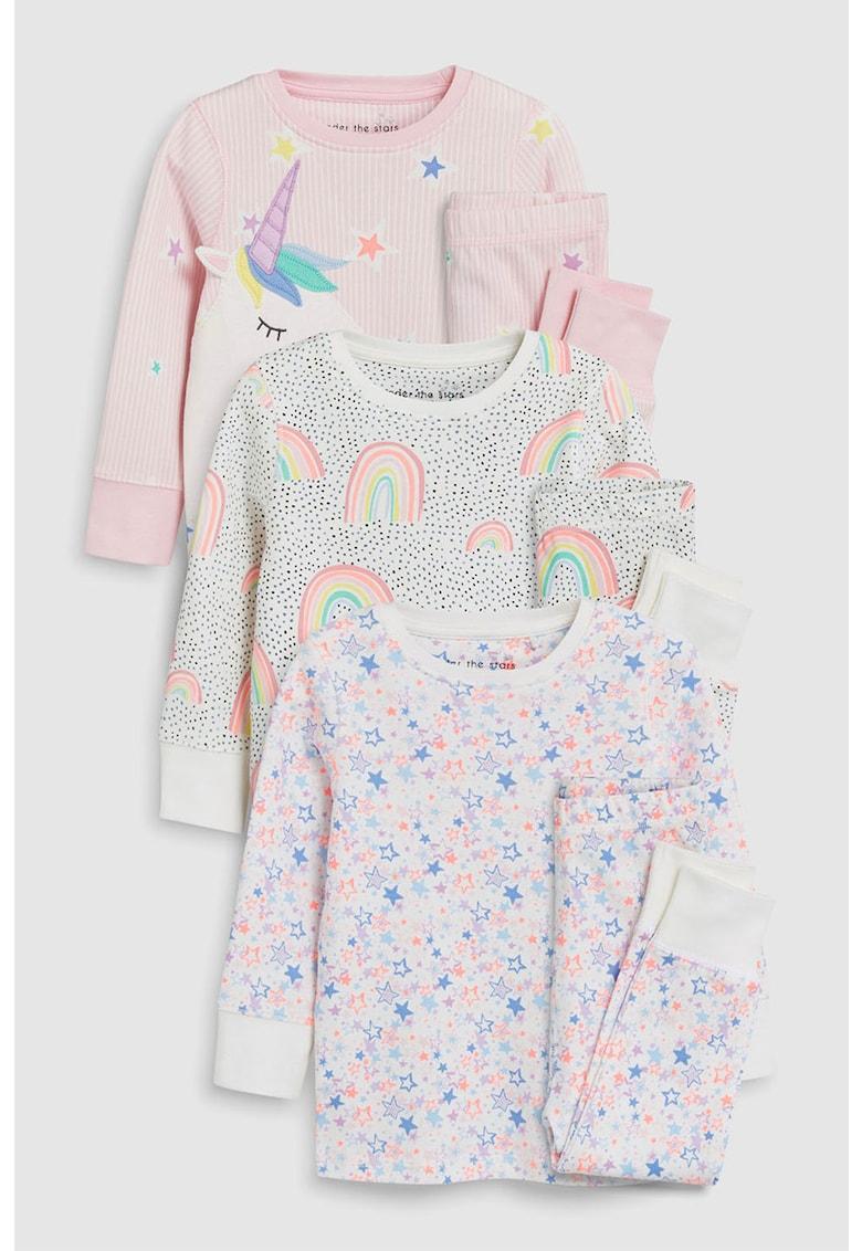 Set de pijamale cu imprimeu grafic – 3 piese de la NEXT