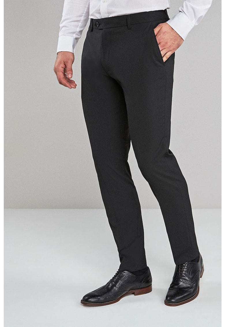Pantaloni eleganti skinny cu pensa