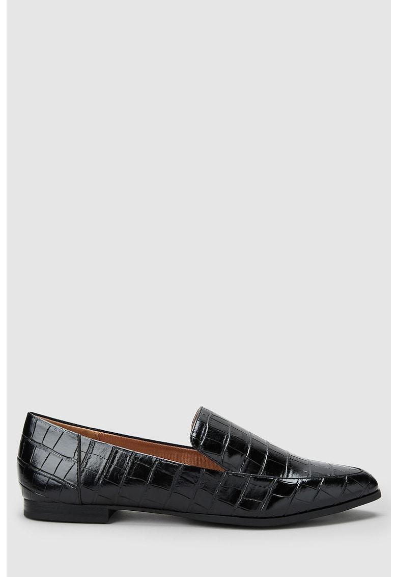 Pantofi loafer cu model crocodil