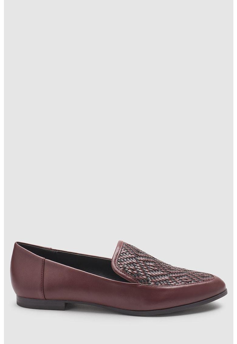 Pantofi loafer de piele ecologica – cu detalii impletite de la NEXT