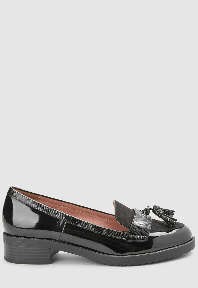 Pantofi loafer de piele ecologica cu canafi de la NEXT