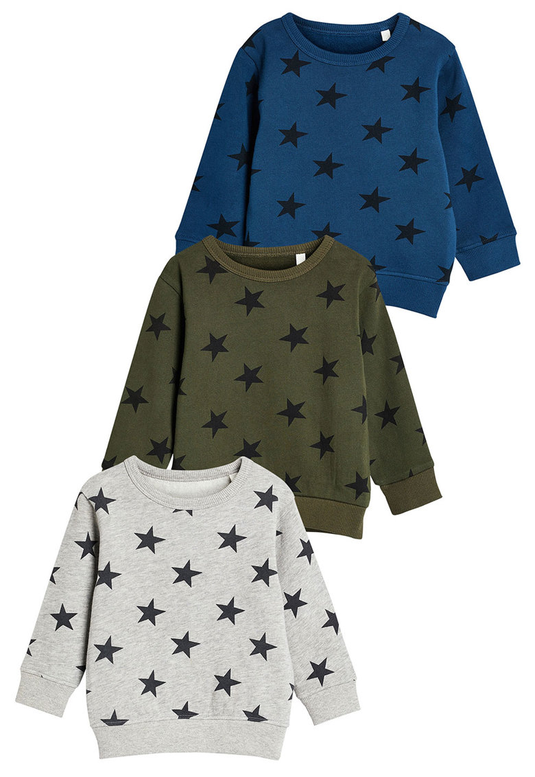 Set de bluze sport cu model cu stele – 3 piese de la NEXT
