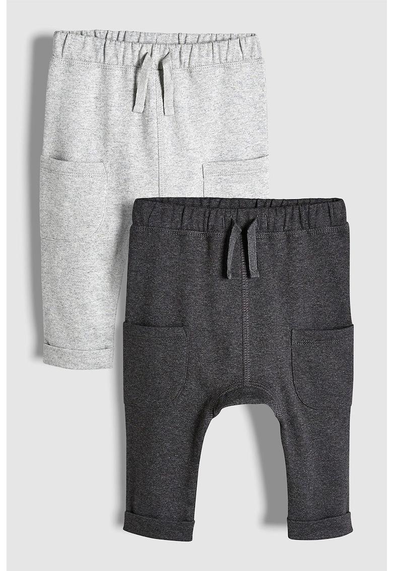 Set de pantaloni sport cu buzunare - 2 perechi