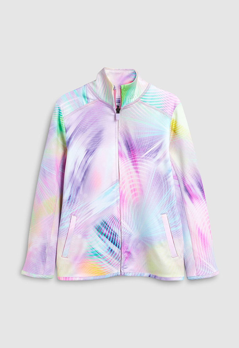 Bluza sport cu fermoar si model abstract