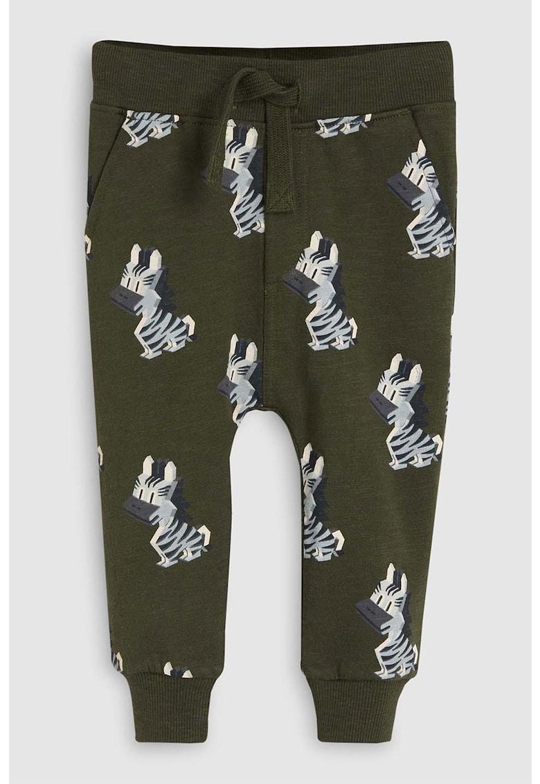 Pantaloni sport cu imprimeu zebra