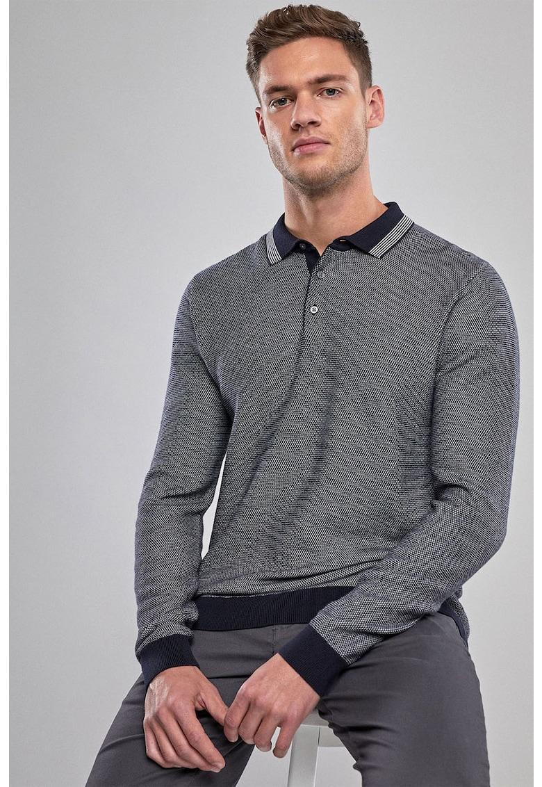 Pulover din tricot fin - cu guler