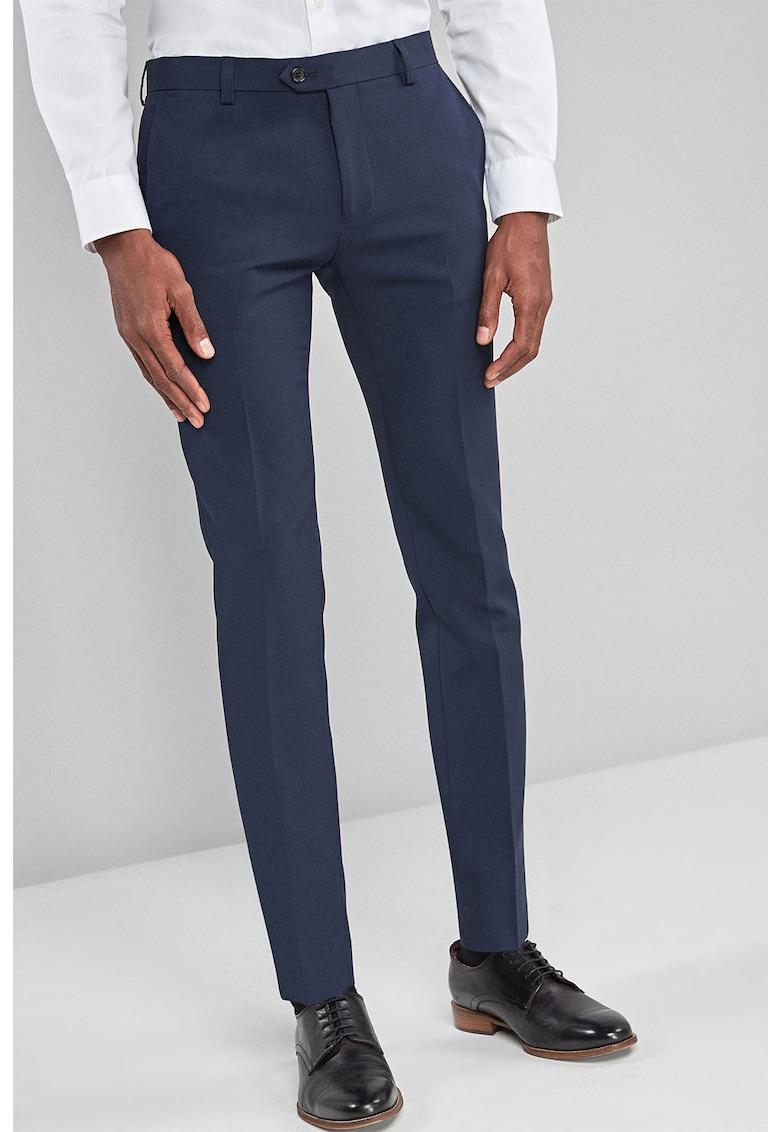 Pantaloni eleganti super skinny cu pensa NEXT