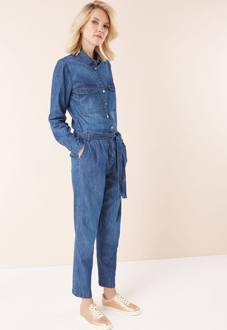 Salopeta maxi din denim