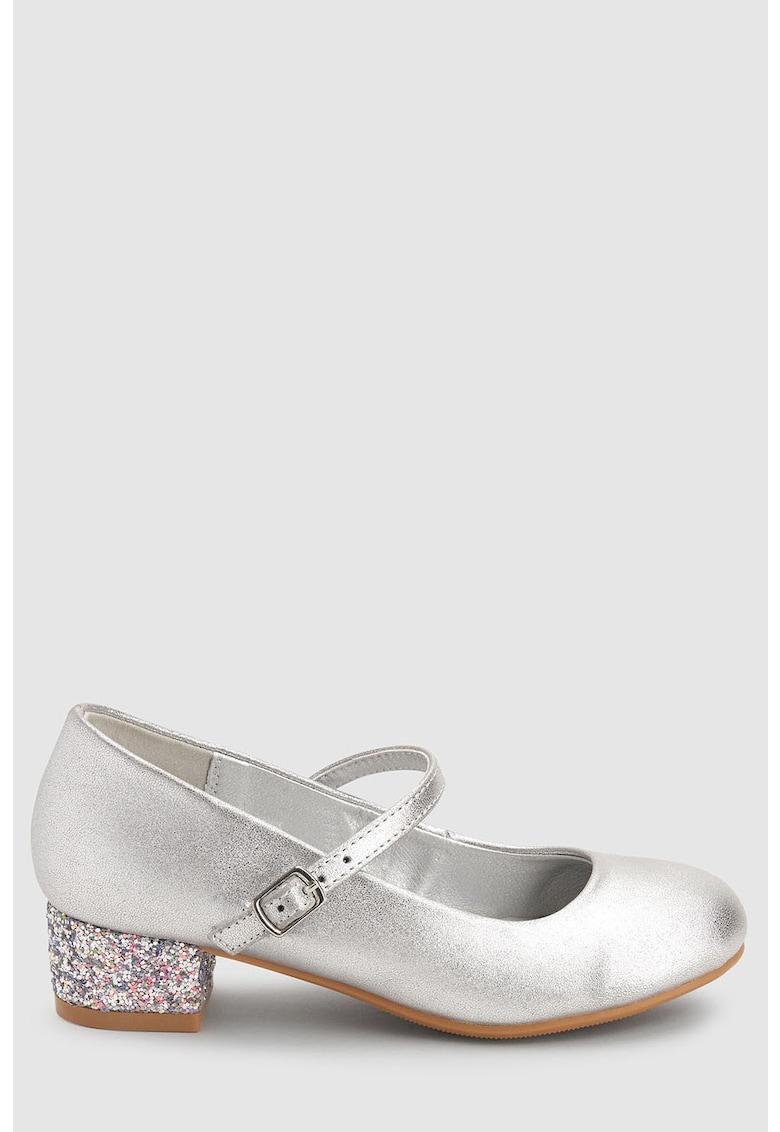 Pantofi Mary Jane cu insertii stralucitoare