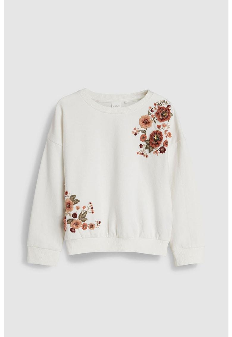 Bluza sport cu broderii florale